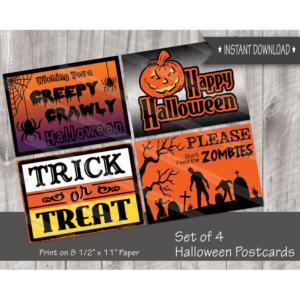 Halloween postcards to download