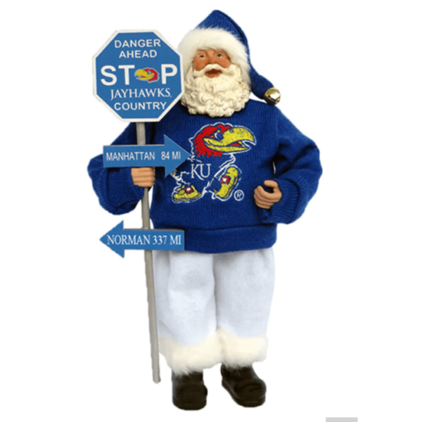 Kansas Santa with sign