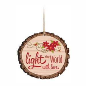 light the world log look ornament