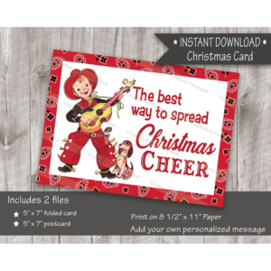 little singing cowboy Christmas card