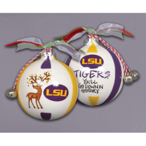 ceramic LSU ornament - you'll go down in history