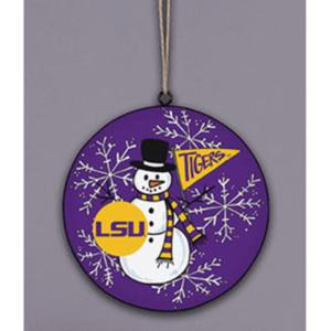 LSU snowman ornament