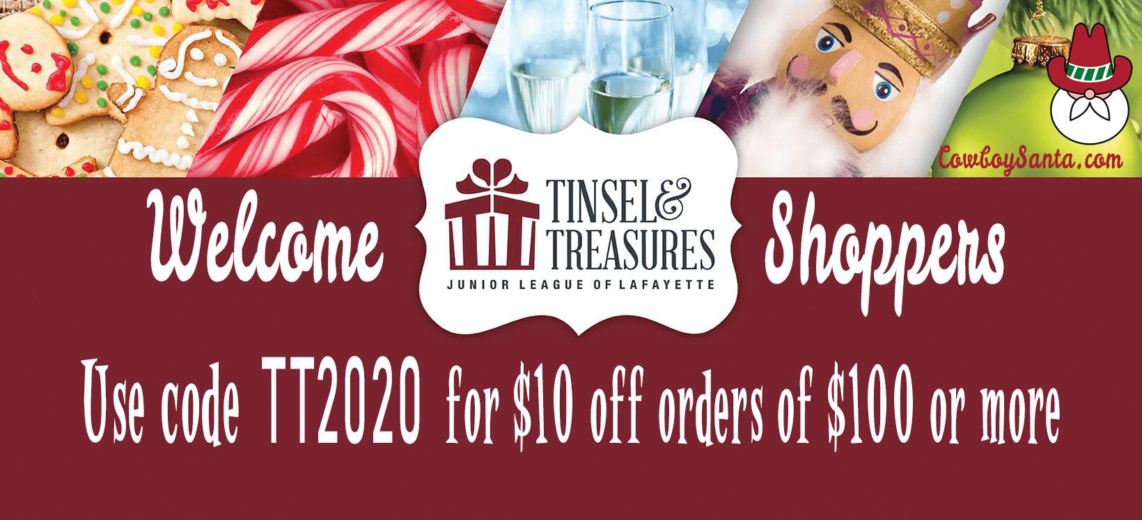 Tinsel & Treasures coupon code tt2020