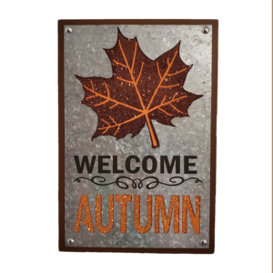 Welcome Autumn Sign - Galvanized