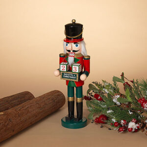 Nutcracker with countdown calendar blocks