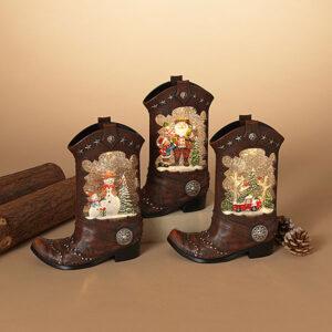 cowboy boot water globes