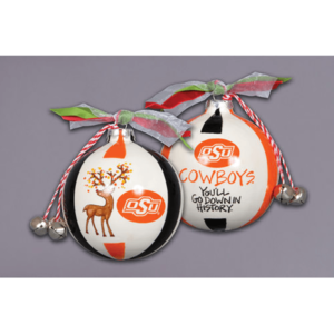 ceramic OSU ornament - reindeer