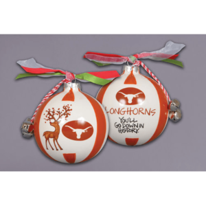 ceramic University of Texas ornament - reindeer