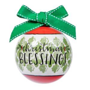 Christmas blessings ceramic ornament