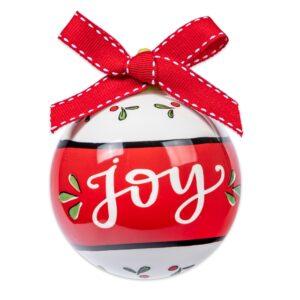 joy ceramic ornament