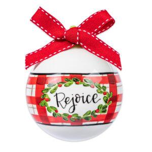 rejoice ceramic ornament