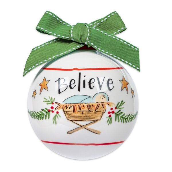 believe ceramic ornament