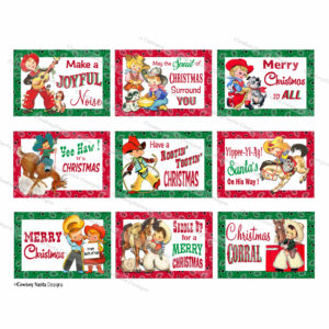 Retro Cowboy Kids Western Gift Tags