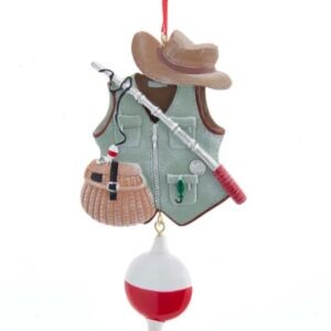 Fishing Vest With Bobber Ornament