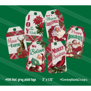 Plaid Christmas Gift Tags