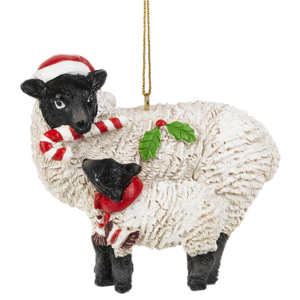 lamb and sheet ornament
