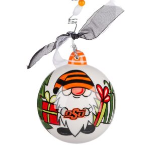 Oklahoma State gnome ceramic ornament
