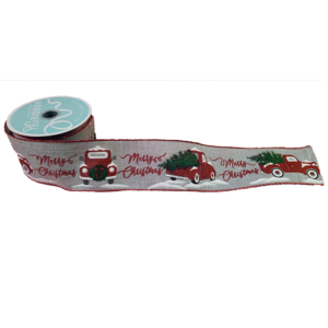 Red Truck Ribbon - 2.5""