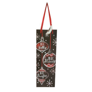 Be Jolly Wine Gift Bag