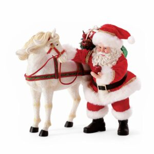 Samta Claus with white horse