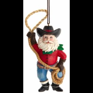 Roping Cowboy Santa ornament