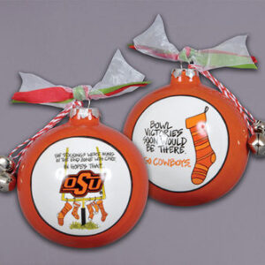 Ceramic Oklahoma State Ornament-Stockings