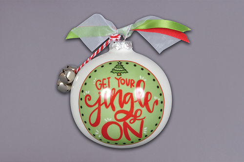 Get Your Jingle On Ceramic Ornament