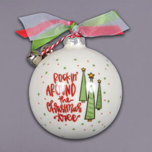 Rockin' Around the Christmas Tree ceramic ornament by Magnolia Lane